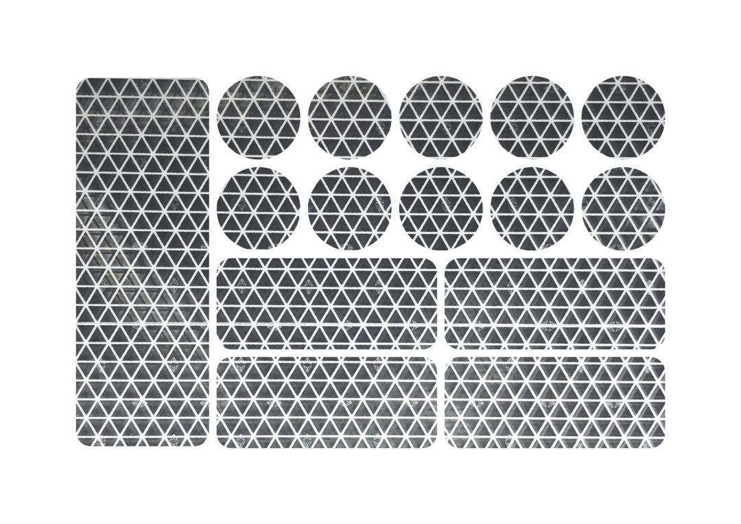 Reflexné samolepky, Reflective stickers