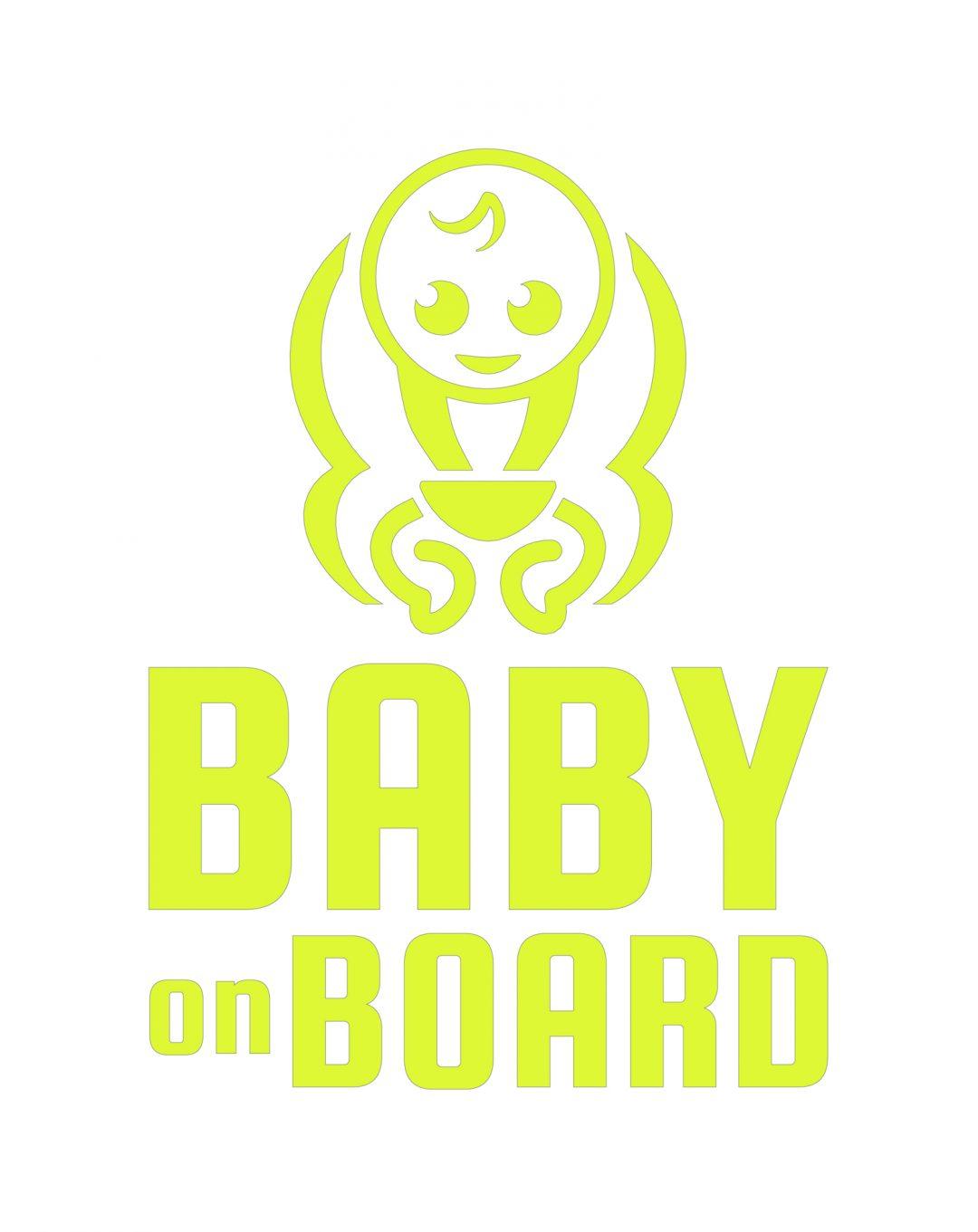 Baby on Board Fluorescentné nálepky
