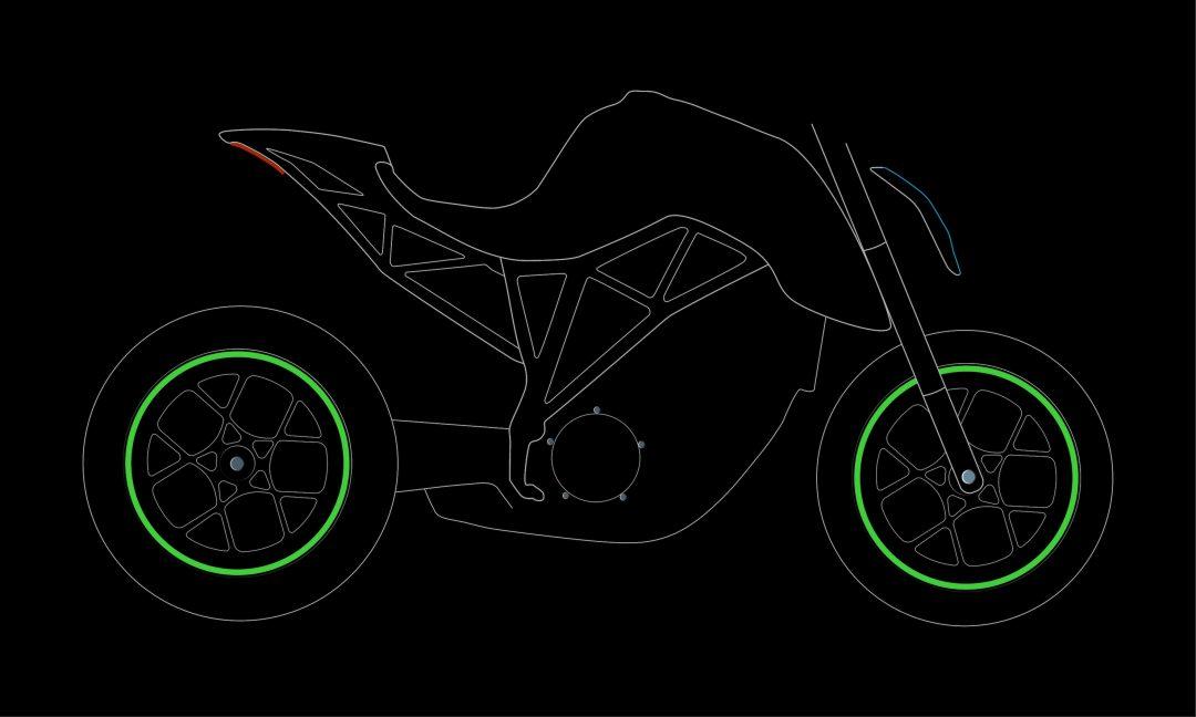 Moto nálepky kolesá Fluorescent Green