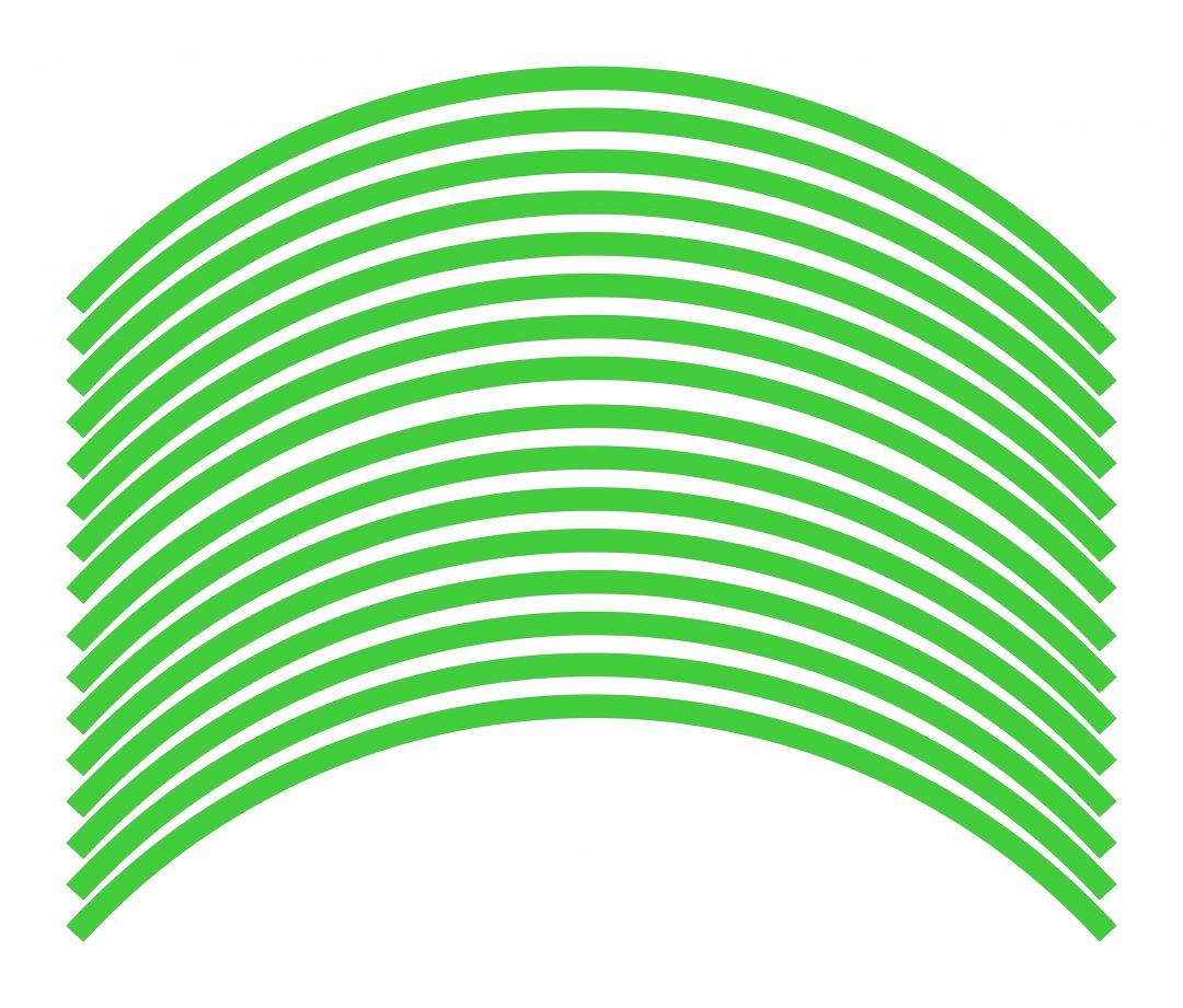Nálepky kolesá Fluorescent Green
