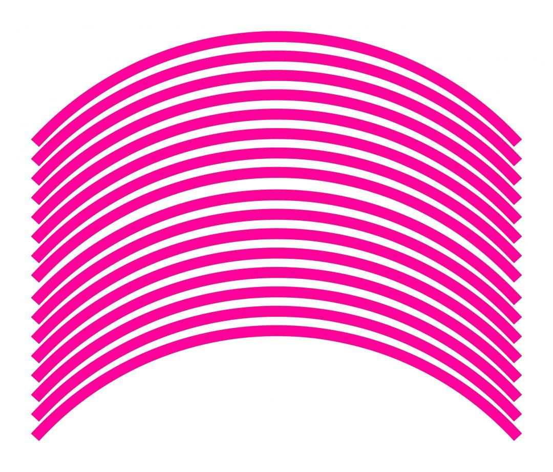 Nálepky kolesá Fluorescent Pink