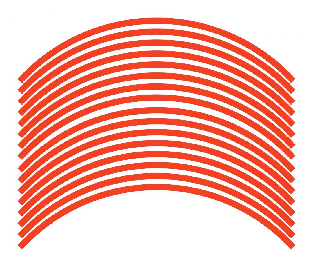 Nálepky kolesá Fluorescent Red Orange
