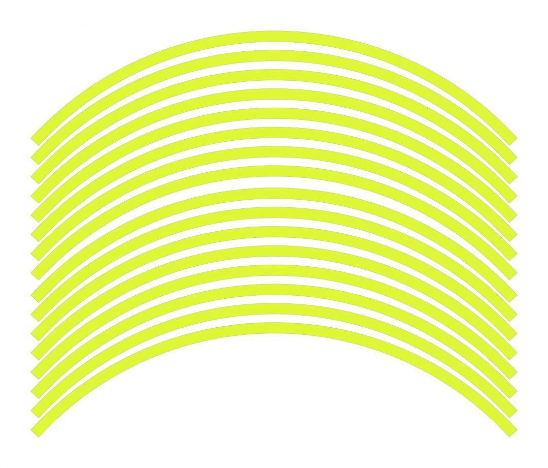 Nálepky kolesá Fluorescent Yellow