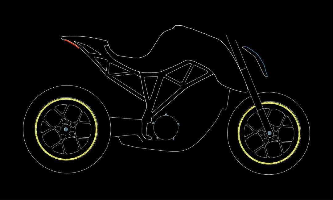 Moto wheels stickers Fluorescent Lime night