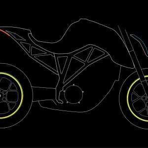 Moto wheels stickers Fluorescent Lime night