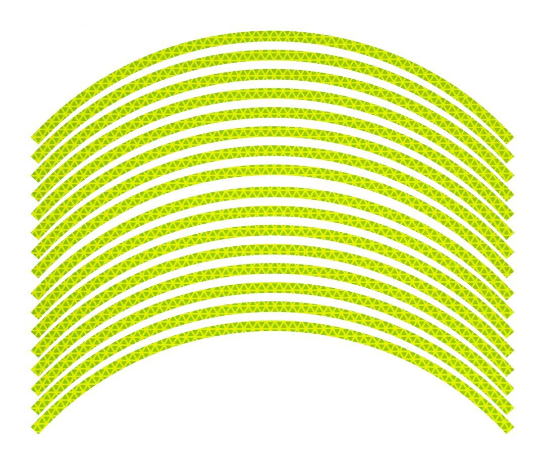 Nálepky kolesá Fluorescent Lime deň