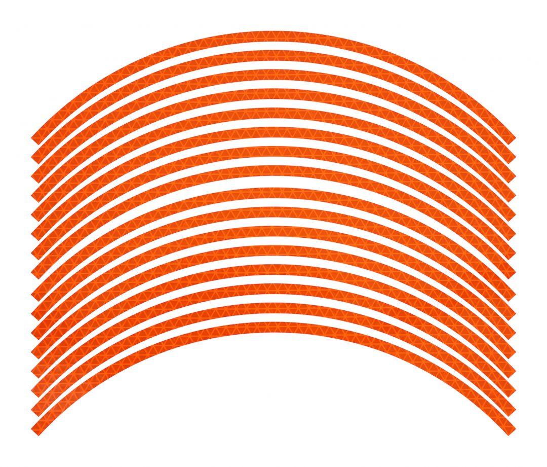 Nálepky kolesá Fluorescent Orange deň